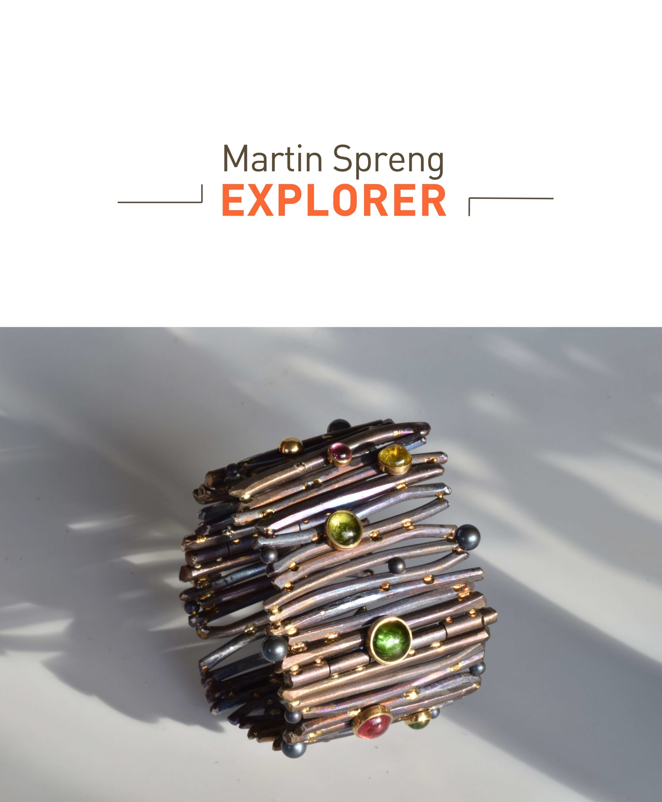 "Martin Spreng exposition EXPLORER manchette ""Les Roseaux"" Titane et tourmalines"