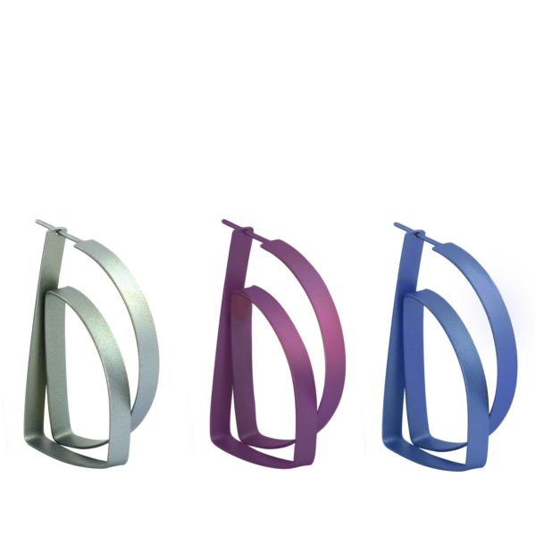 Boucles d'Oreilles Continues Triangle - couleurs