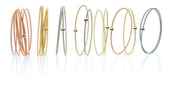 Bracelet Colette Rouge 6 Tours et Sphère