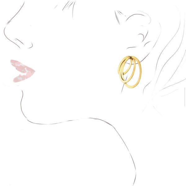 """Boucles d'Oreilles """"Quinta"""" or jaune"""