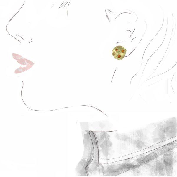 Boucles d'Oreilles Soleils d'Automne