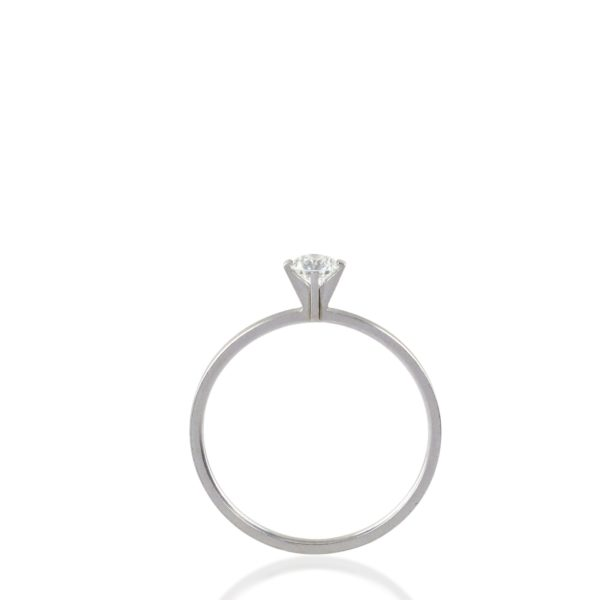 "Bague ""Princess"" Or Gris diamant 0,23ct Niessing®"