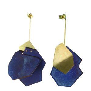 """Boucles d'Oreilles """"Cairn N°1"""" Titane et Or"""