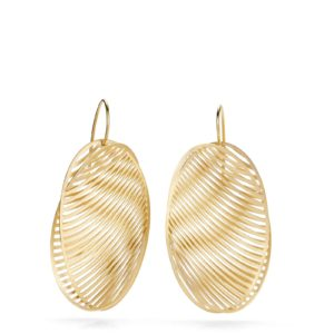 Boucles d'Oreilles Mirage Ovales en Or Jaune Niessing