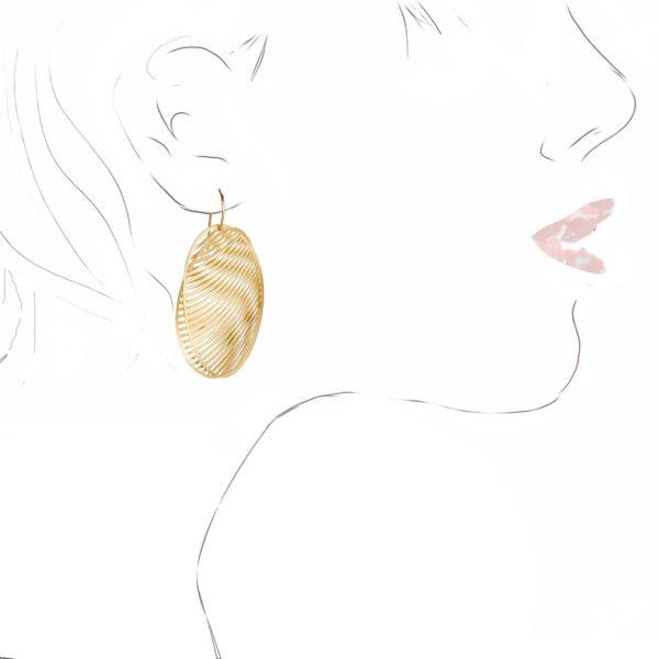 Boucles d'Oreilles Mirage Ovales en Or Jaune
