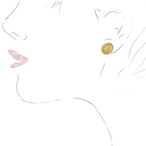 Clous d'Oreilles Coupelles Ovales Bicolores