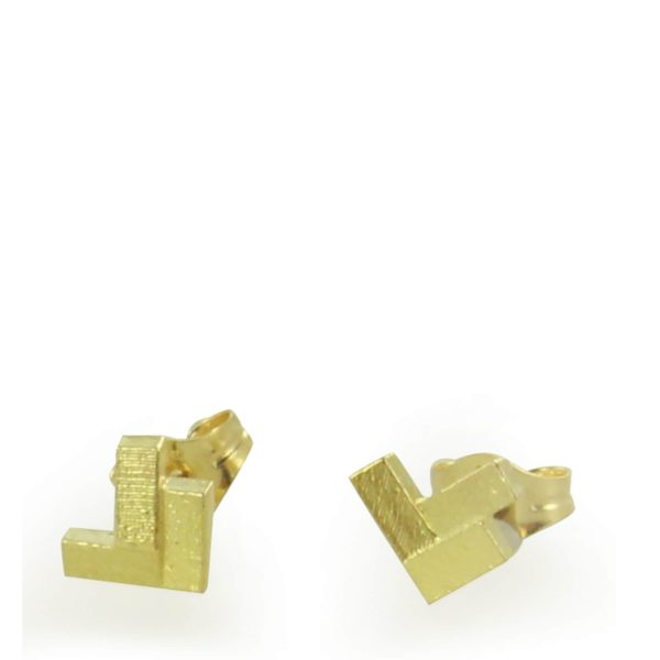 Clous d'Oreilles Parquet 3 Elements en Or Jaune