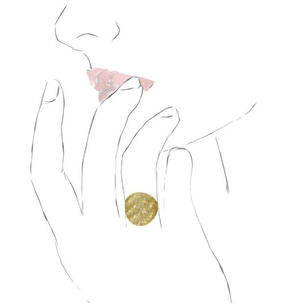 "Bague ""Medium Hex Shield"" Diamants"