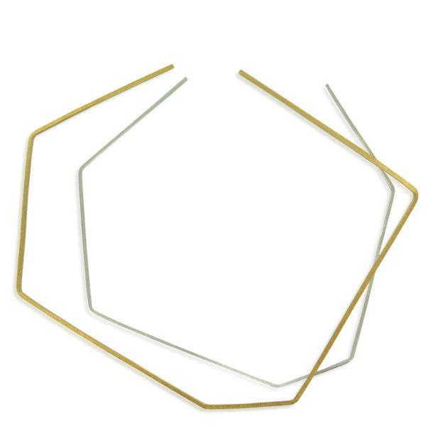 "2 Colliers ""Geometry"", 1 en or Fairtrade, 1 argent"
