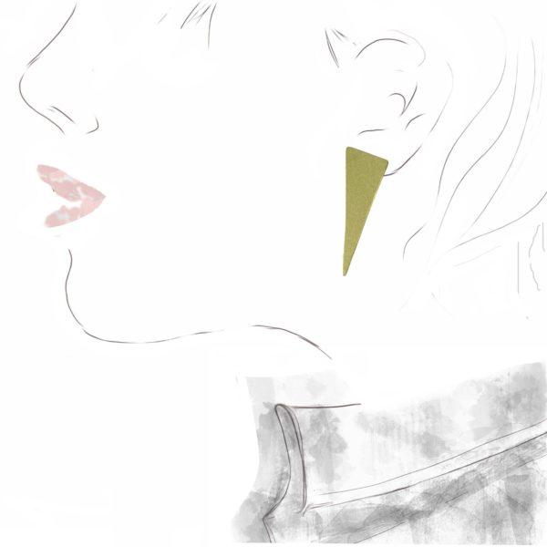 """Boucles d'Oreilles """"Triangle"""""""