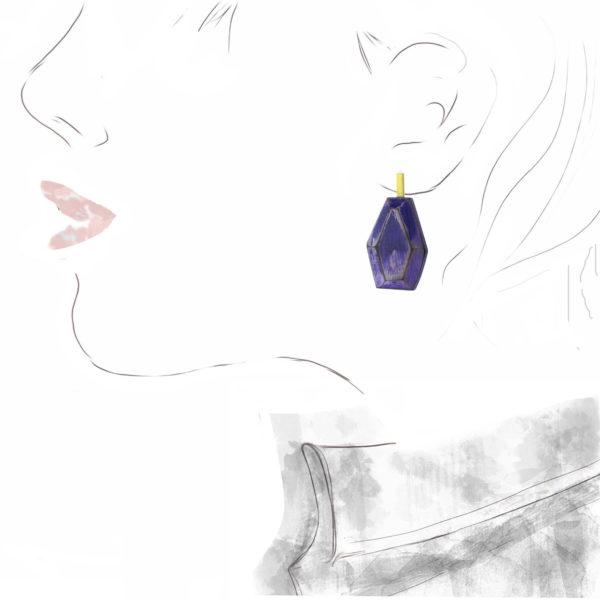 "Boucles d'Oreilles ""Purple"", Cristina Zani"