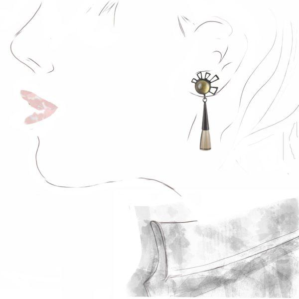 """Pendants d'Oreilles """"Marguerite"""""""