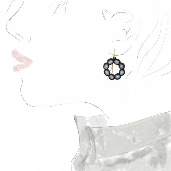 Boucles d'oreilles Fossile Argent