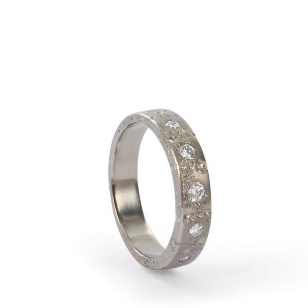 Anneau Petite Lune Diamants