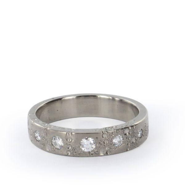 Anneau Toute Petite Lune Diamants