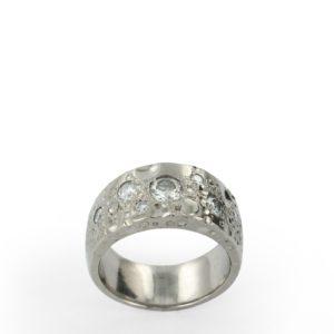 Anneau Lunaire Diamants