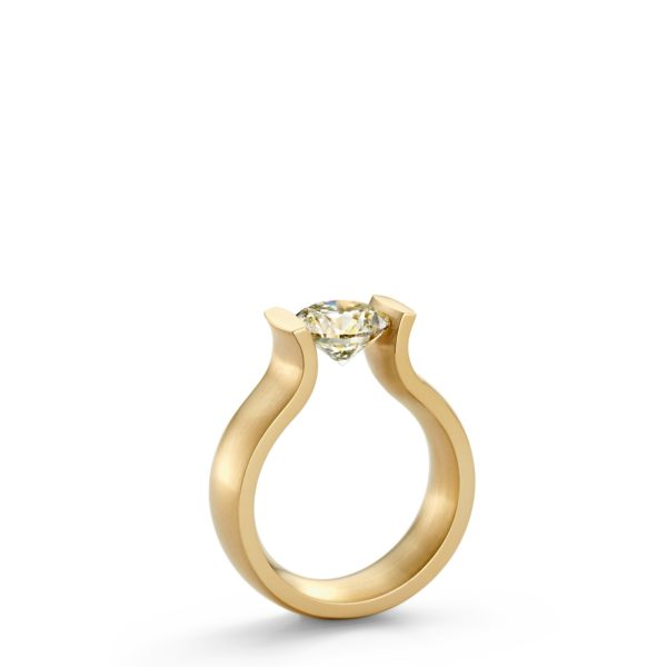 Bague Tension Lucia or jaune