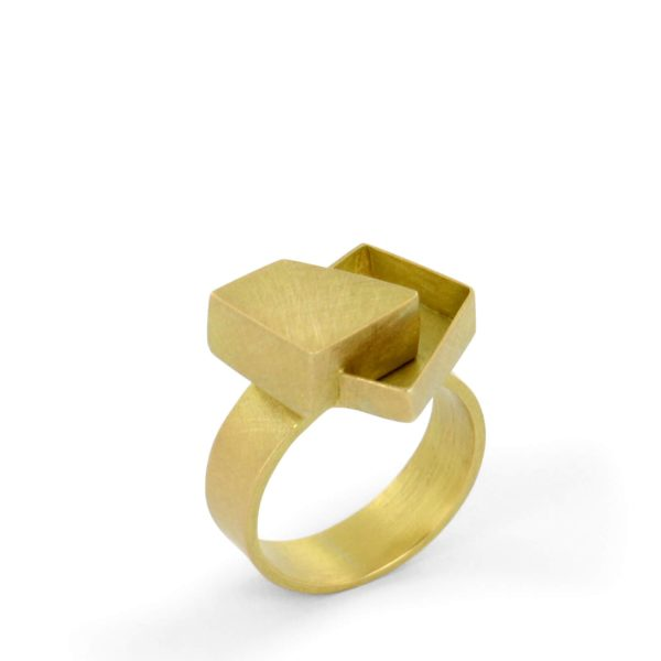 Bague Positive Negative en Or Jaune