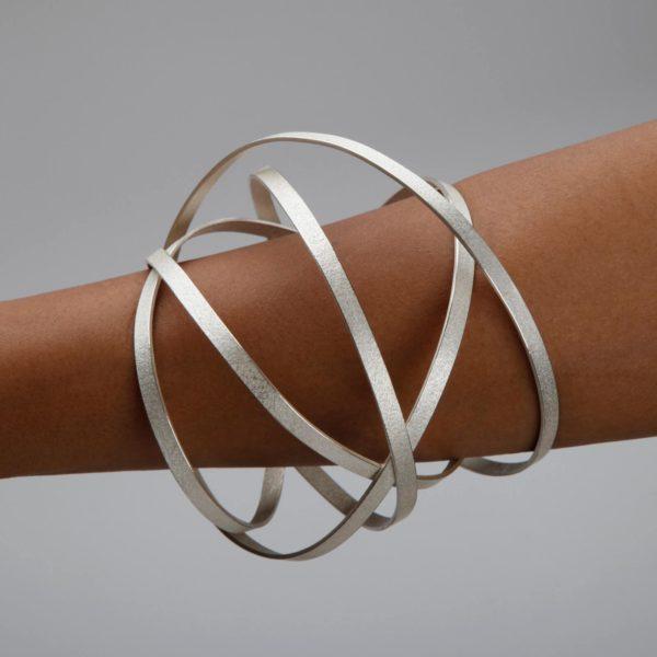 Bracelet Orbit Argent