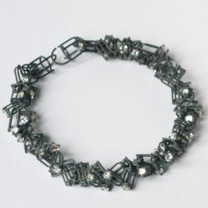 Collier Rivière, argent et dioxyde de zirconium, Ambroise Degenève