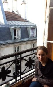 Atelier de Marianne Anselin, vue sur les toits de Paris