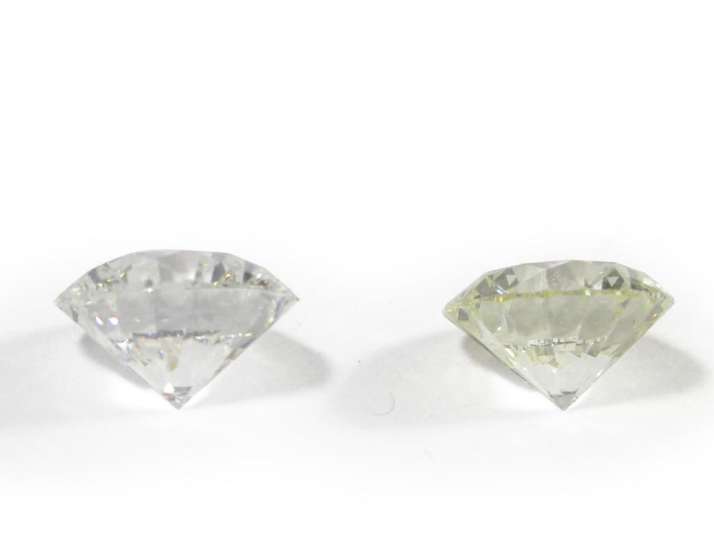 Diamant de couleur G et L