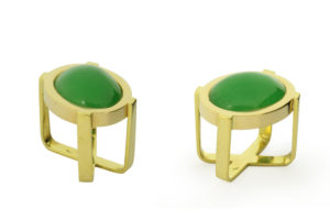 Bague Jean Grisoni, or jaune et jade