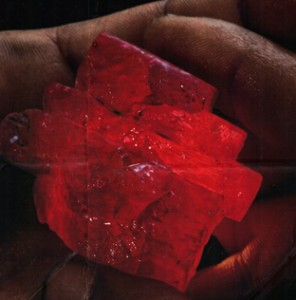 Cristal brut de rubis de Birmanie